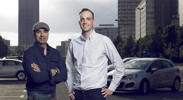 Die beiden Gründer Ravi Seth (l.) und Marcus Steinberg wollen mit einem Vergleichsportal für Carsharing durchstarten.