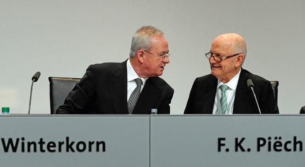 VW-Chef Martin Winterkorn und Ferdinand Piëch, Aufsichtsratsvorsitzender des Konzerns (Archivbild: Hauptversammlung 2013).
