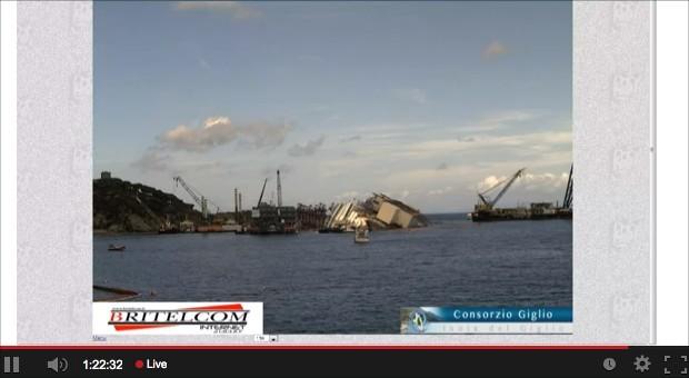 Screenshot des Live-Streams der Lokalzeitung GiglioNews.
