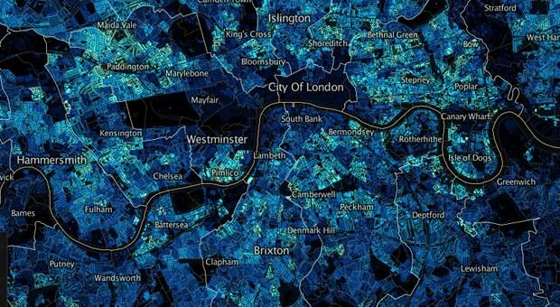 Bevölkerungsdichte im Großraum London