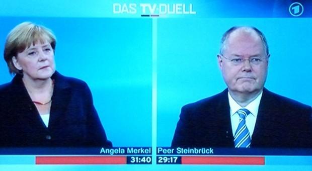 Gingen beide auf Nummer sicher: Angela Merkel (CDU) und Peer Steinbrück (SPD)