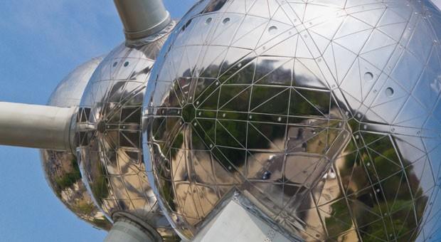 Das Atomium wurde zur Weltausstellung 1958 in Brüssel gebaut.