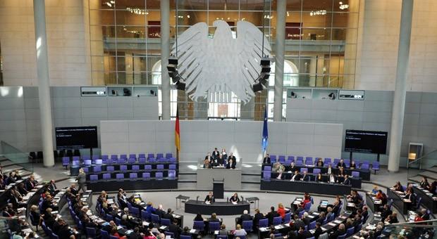 Konstituierende Sitzung des Deutschen Bundestags für die neue Legislaturperiode am 22. Oktober 2013.