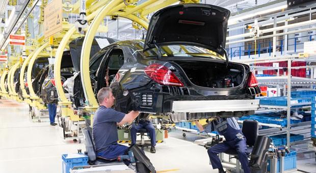 Die Produktion im Daimler-Werk in Sindelfingen.
