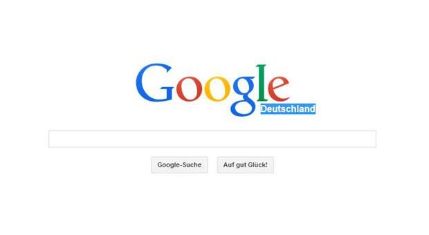 Die Webseite von Google