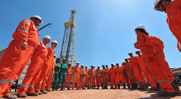 OGX-Mitarbeiter im Parnaíba-Becken im Bundesstaat Maranhão.