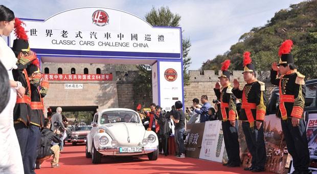 Das Ziel der Oldtimer Rallye durch China
