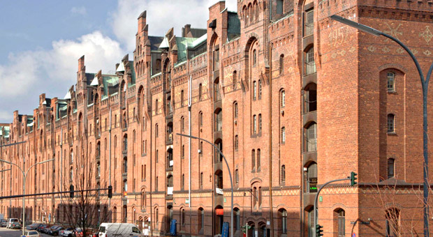Der Block L der Speicherstadt in Hamburg