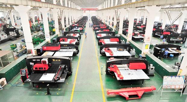 Eine Produktionsstraße von JFY in China