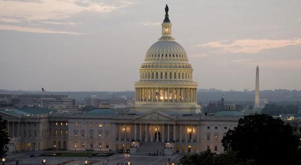 Das Capitol in Washington, D.C. ist der Sitz des Kongresses mit Senat und Repräsentantenhaus.