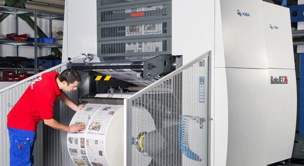Mit Maschinen von Koenig & Bauer werden auch Zeitungen gedruckt.