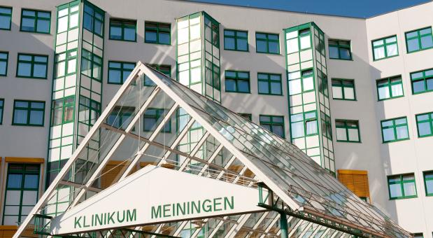 Das Klinikum Meiningen gehört der Rhön AG.