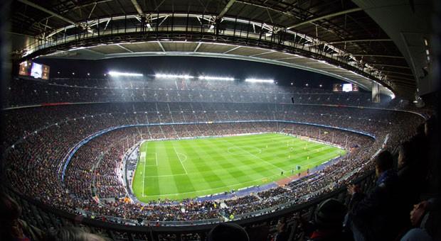 Das Stadion Camp Nou, die legendäre Spielstätte des FC Barcelona.
