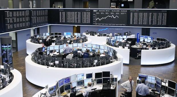 Der Handelssaal der Deutschen Börse in Frankfurt am Main.