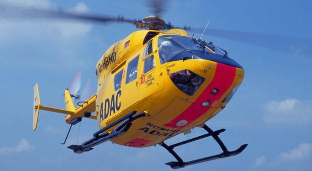 Ein Hubschrauber der ADAC Luftrettung
