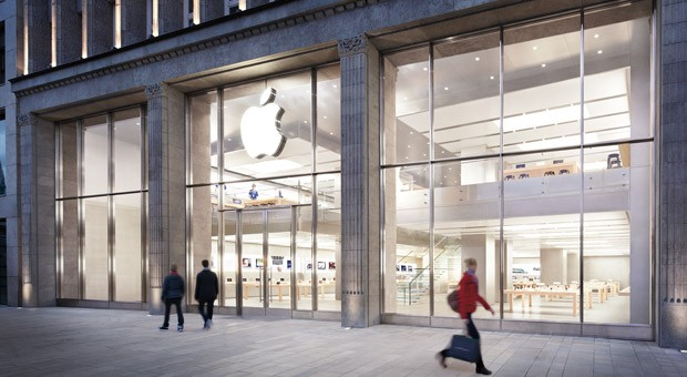 Der Apple-Store am Jungfernstieg in Hamburg