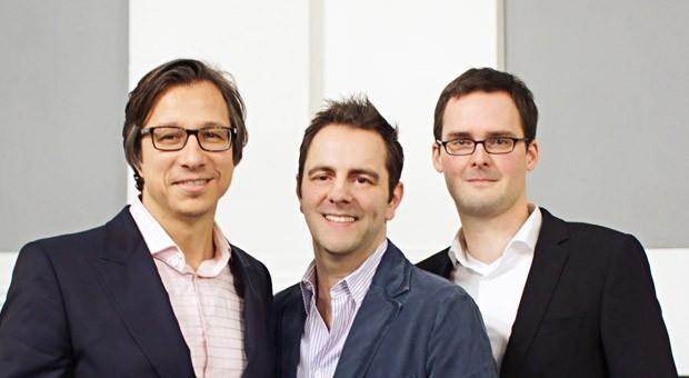 Die Gewinner des Gründungswettbewerbs: Ralf Priemer, Mirko Platz und Lars Niemann von Channel Pilot