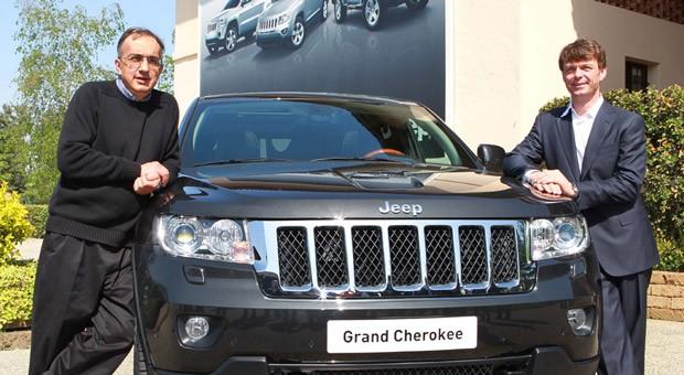 Fiat-Chef Sergio Marchionne und Mike Manley, Chef der Chrysler-Marke Jeep, bei der Präsentation eines neuen Geländewagens für den europäischen Markt.