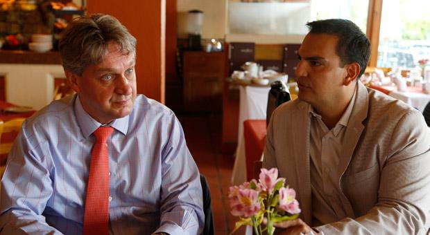 Regierungsvertreter werben bei Unternehmern wie Gert Forschner mit Zuschüssen und persönlicher Betreuung.