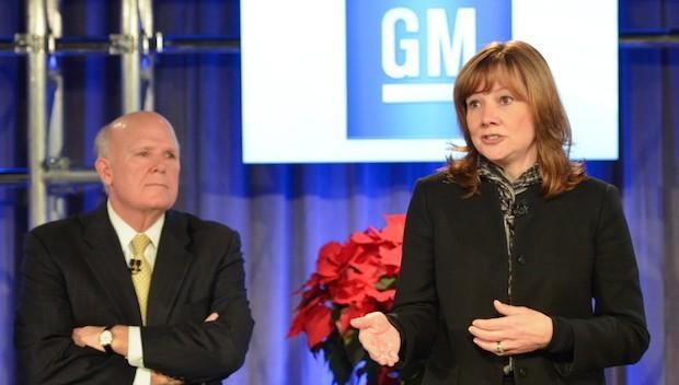 Dan Akerson und Marry Barra bei der Bekanntgabe der Nachfolgeregelung
