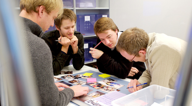 Archivbild: Studenten beim Tüfteln neuer Ideen