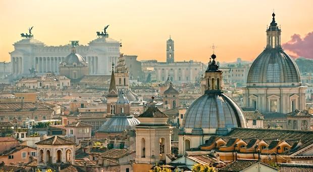 Skyline der italienischen Hauptstadt, Rom.