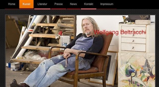 Screenshot der Homepage von Wolfgang Beltracchi