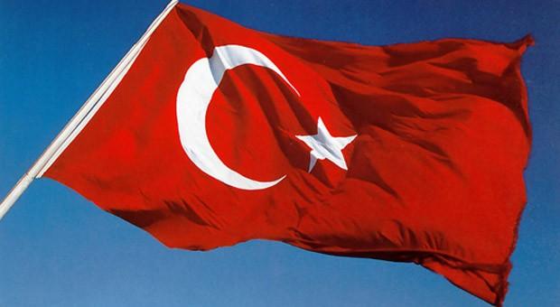 Die türkische Flagge.