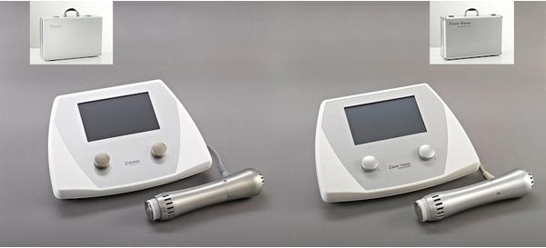 PLATZ 1:   Ein radiales Stoßwellentherapiegerät: Links das Original der Firma Zimmer MedizinSysteme aus Neu-Ulm. Rechts das Plagiat das den Angaben zufolge aus China stammt.