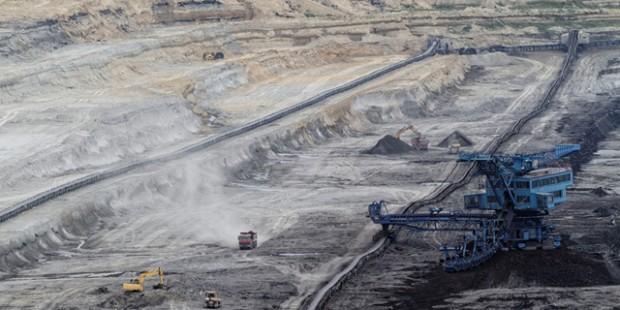 Eine Kohlemine in Ungarn.