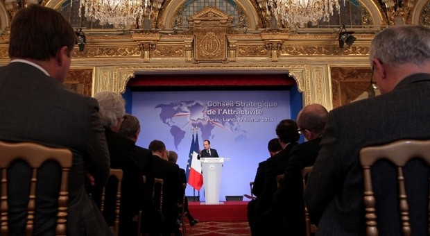 Frankreichs Präsident Hollande im Élysée-Palast