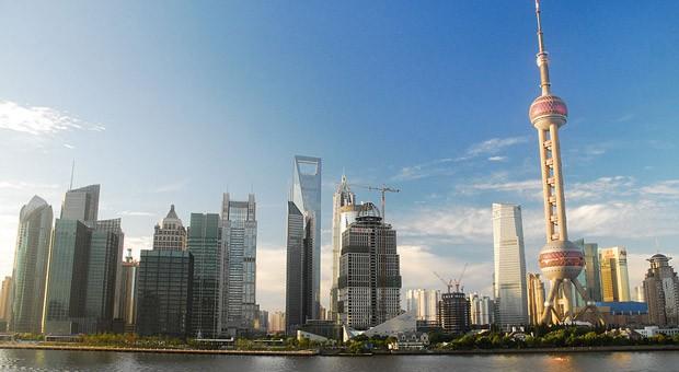 Die Skyline von Schanghai