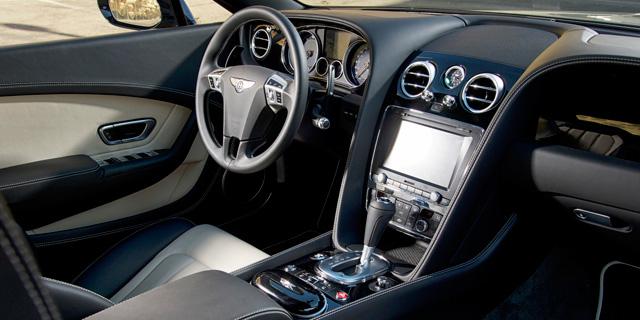 Der Innenraum des Einsteiger-Bentley.