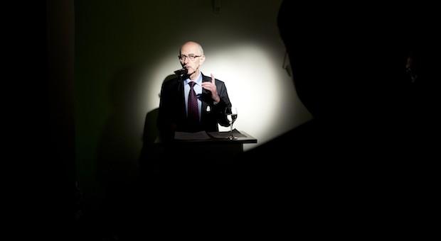 Unternehmer Knut Löschke auf der impulse-Feier zum einjährigen Verlagsjubiläum