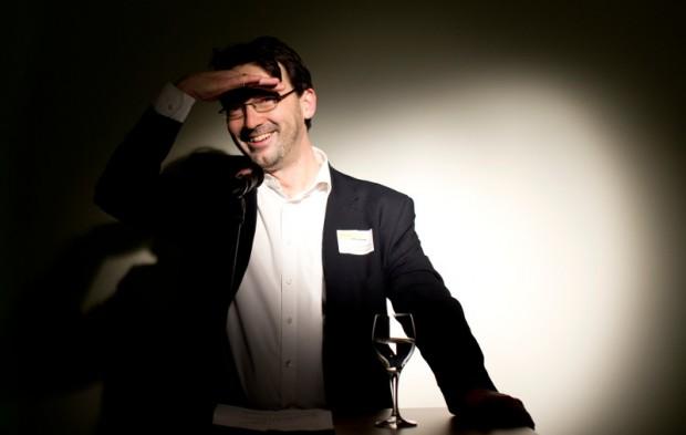 Nikolaus Förster übernahm  im Januar 2013 im Zuge eine Management-Buy-outs das Magazin impulse. Das Bild zeigt ihn bei der Feier zum ersten Geburtstag des Verlags am 26.02.2014.