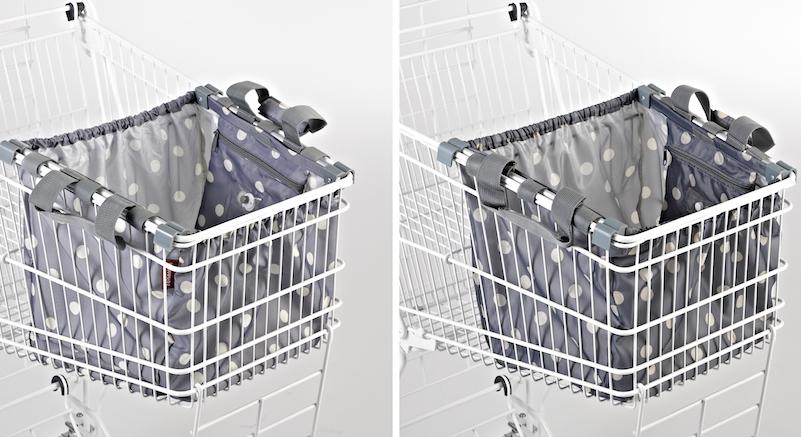 ... für eine Einkaufswagentasche (Links das Original der Reisenthel Accessoires aus Gilching, rechts die Fälschung).