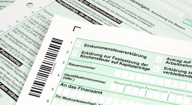 Das Formular für eine Steuererkärung