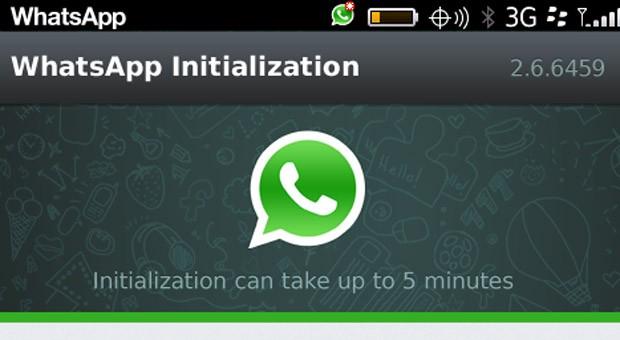 Screenshot von whatsapp auf einem Blackberry