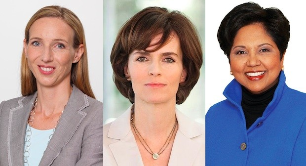 v.l.n.r.: Simone Bagel-Trah, Nicola Leibinger-Kammüller und Indra Krishnamurthy Nooyi