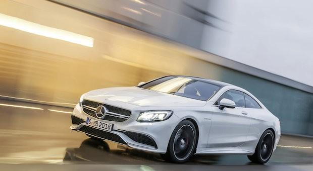 Kommt mit bulliger Front daher: das Mercedes S 63 AMG Coupé.
