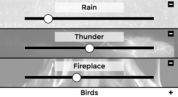 Rain+Thunder+People ... fertig ist der individuelle Büro-Sturm