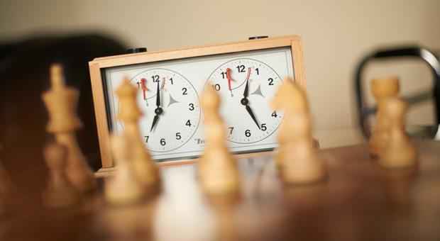 Zeitspiel: Die Schachuhr misst die Bedenkzeit.