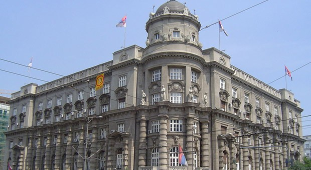Das Regierungsgebäude in der serbischen Hauptstadt Belgrad