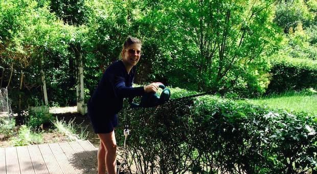 Ich entspanne bei der Gartenarbeit ... und Sie?