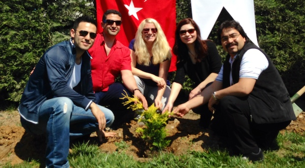 Bei unserer Pflanzaktion in der Türkei 2014