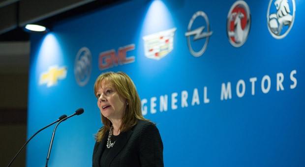 GM-Chefin Mary Barra bei der Jahreshauptversammlung in diesem Jahr.