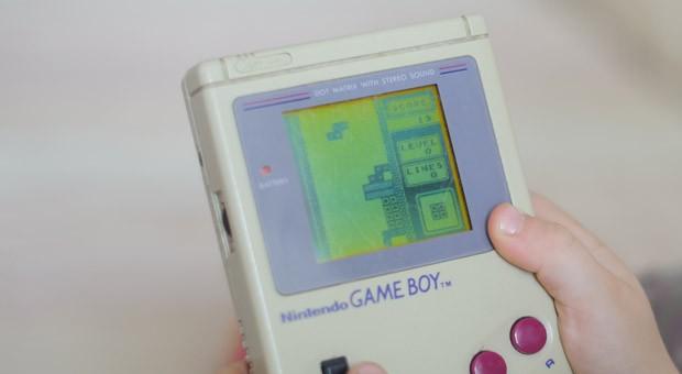 Das Tetris-Spiel im Game Boy
