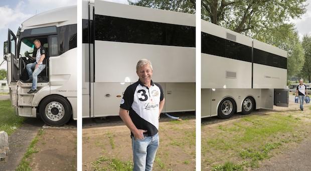 Axel Gier führt eine Autowerkstatt mit zehn Mitarbeitern. Sein Wohnmobil hat fast 1 Million Euro gekostet und ist der Hingucker auf dem Camping-Platz Mosel-Islands