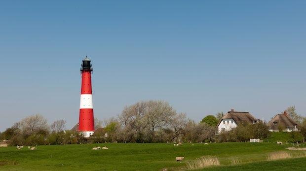 Der Leuchtturm auf der Insel Pellworm