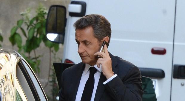 Nicolas Sarkozy nach einem Fernsehinterview am Mittwochabend: Zuvor hatte die Staatsanwaltschaft Ermittlungen gegen den französischen Ex-Präsidenten aufgenommen.